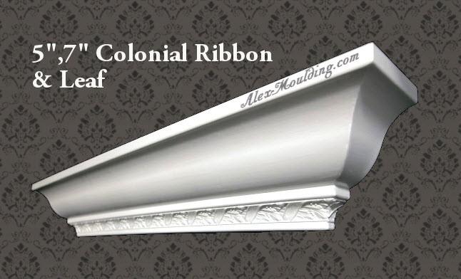 Colonial/Georgian Ribbon & Leaf 5,7