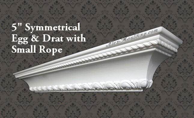 Symmetrical Egg Dart With Small Rope 5 Crown Molding