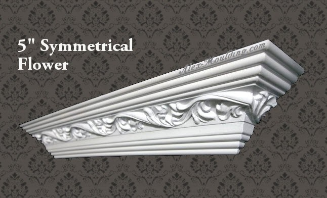 Symmetrical Flower 5 crown molding