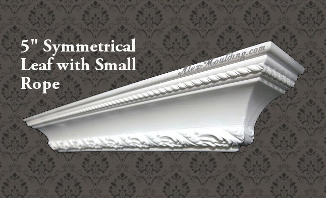 Symmetrical Flower with Rope 7 crown molding