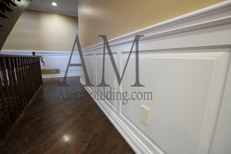 Hallway raised panel wainscoting