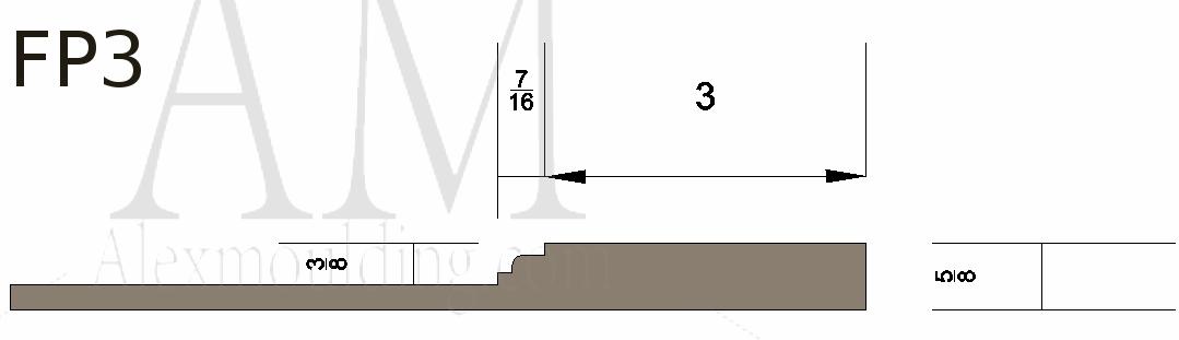 Flat panel 3 wainscoting profile