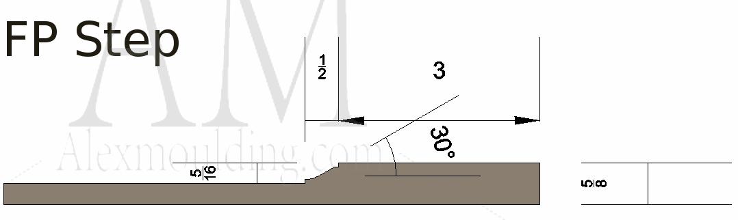Flat panel step wainscoting profile