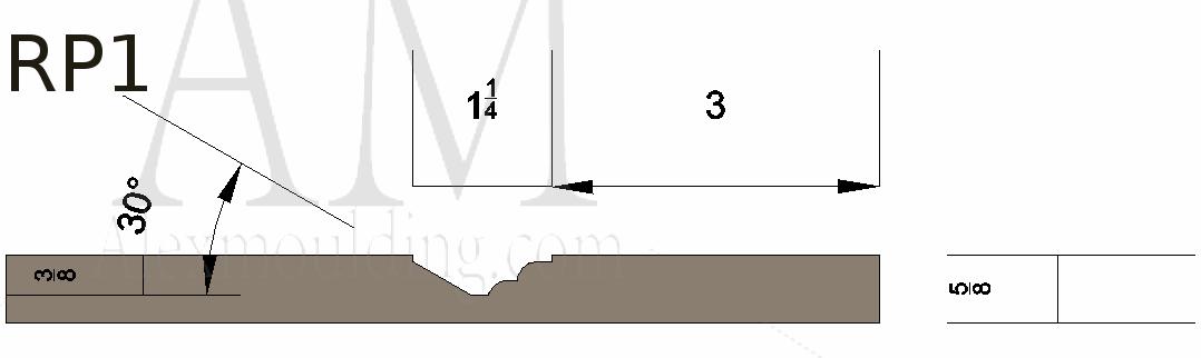 Raised panel 1 wainscoting profile