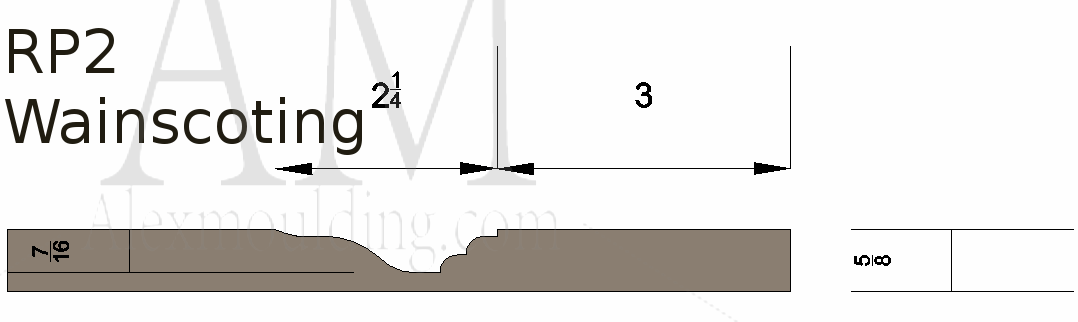 Raised panel 2 wainscoting profile
