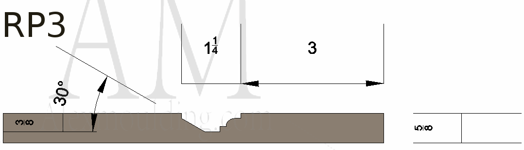 Raised panel 3 wainscoting profile