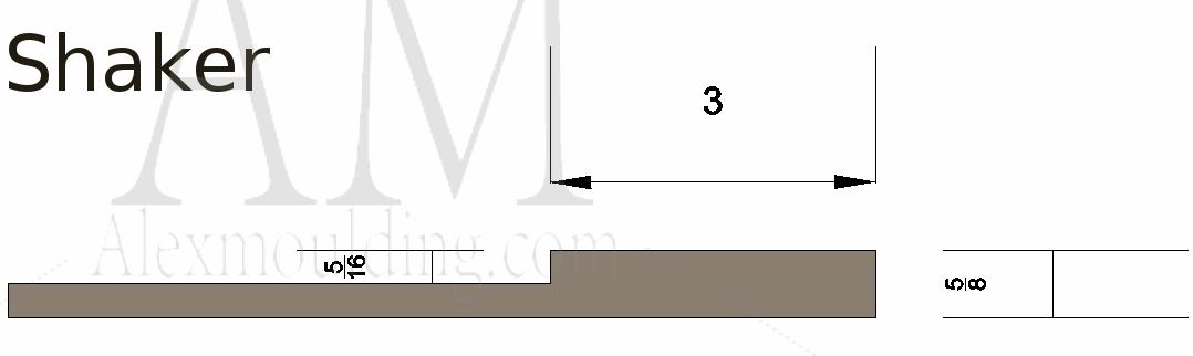 Shaker wainscoting profile