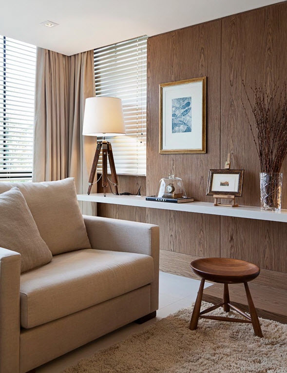 Modern interior wainscoting wood panels decorative - Wood paneling ideas modern ...