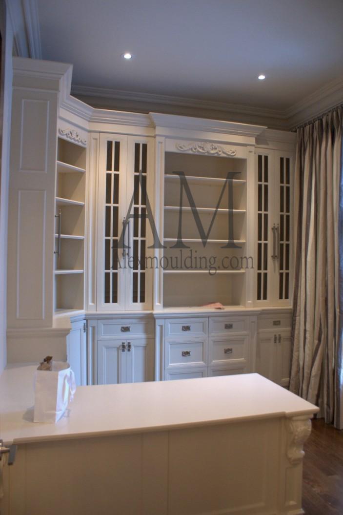 great room bookshelves