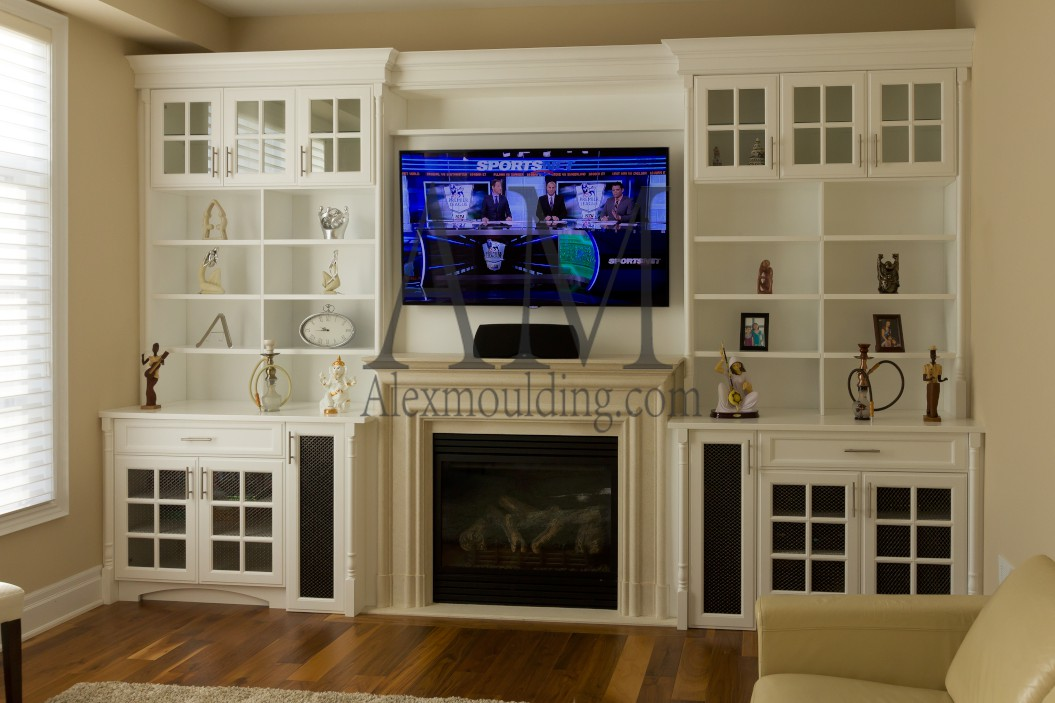 Build-in Wall TV Entertainment Units | Custom Bookcases ...