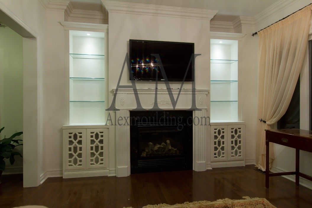 Build-in Wall TV Entertainment Units   Custom Bookcases ...
