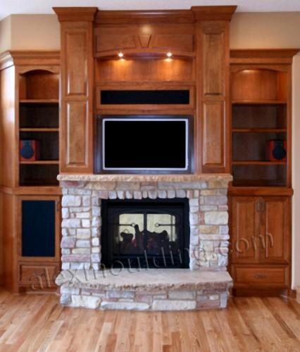 GAS FIREPLACE MANTLE TV TOP – Fireplaces