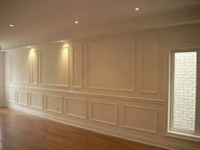 applique wainscoting full size accent wall