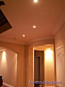 Flexible Rubber Curved Crown Cornice Mouldings For Curved