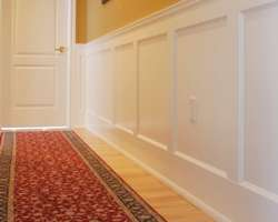 New Baseboard Chair Rail panaling and wood mouldings