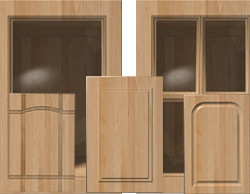 Variety of wood mdf doors and colors