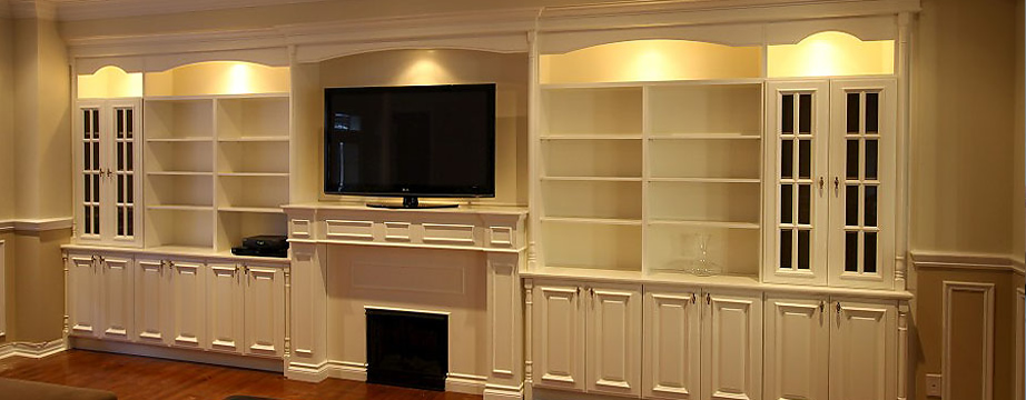 Build In Wall Tv Entertainment Units Custom Bookcases Great Room Bookshelves