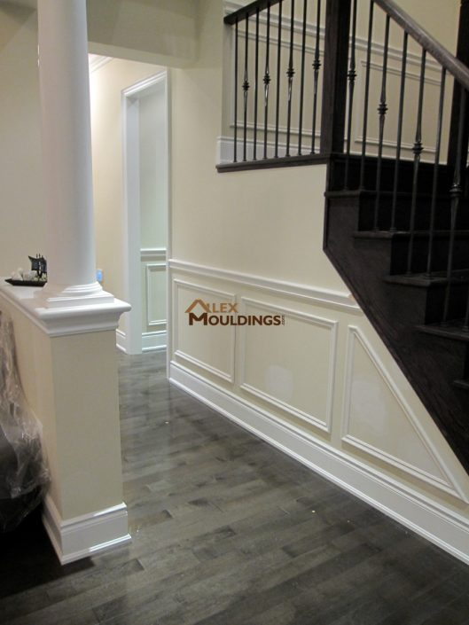 wall trims with baseboards