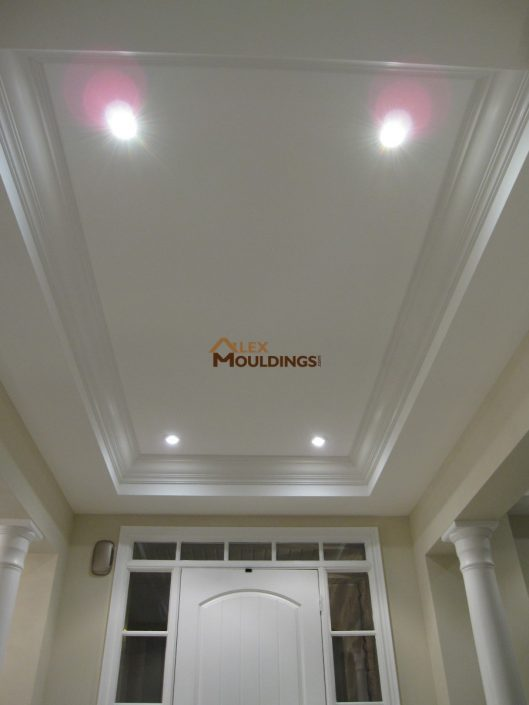 trim work on a tray ceiling