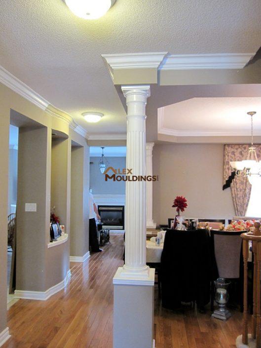 hallway crown moulding