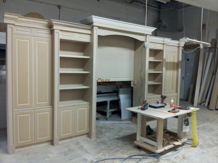 unpainted wall unit
