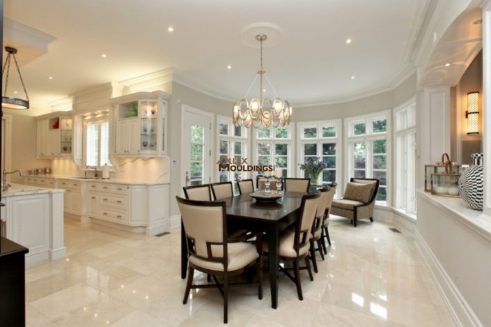 model home crowns and baseboards