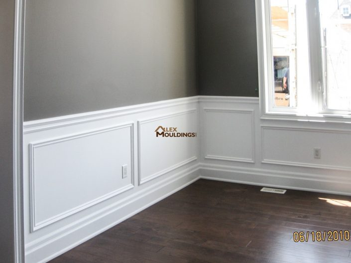 painted half wall trims