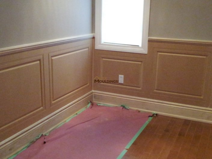 wainscoting ready to be painted