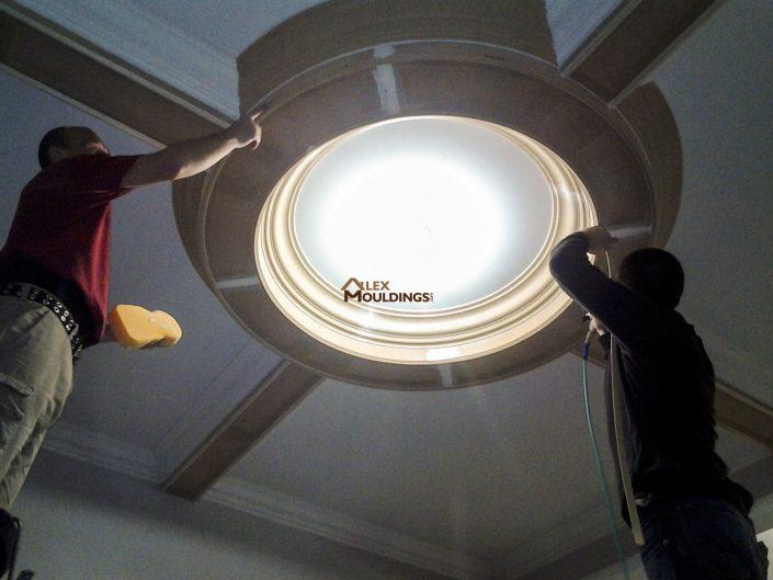 Circle Ceiling design installation