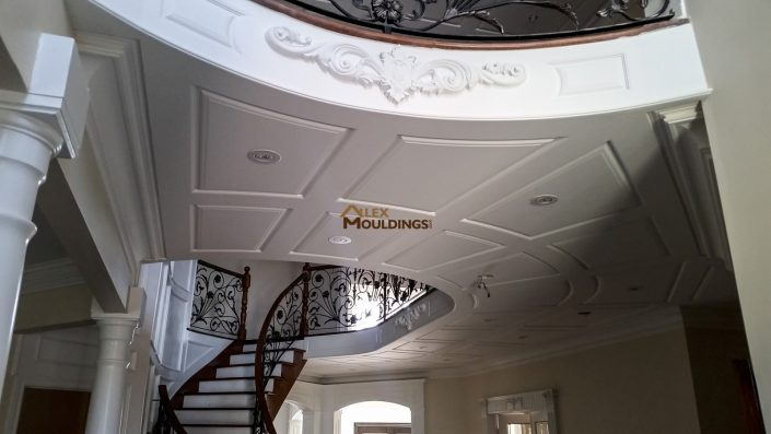 Ceiling raised panel wainscoting panels