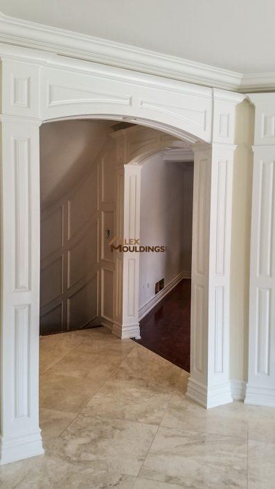 Entry door casing opening
