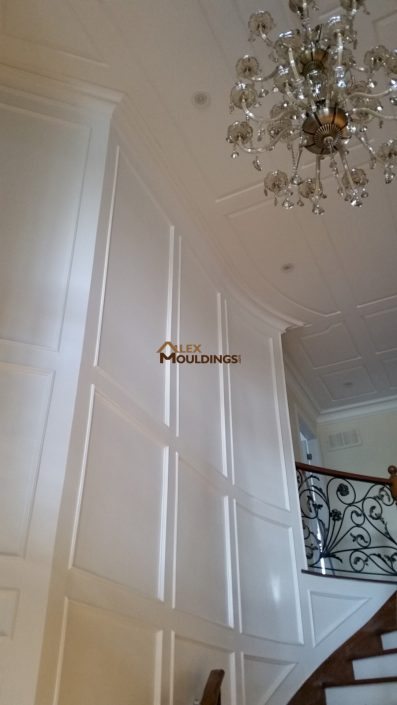 wainscoting on walls and ceiling design