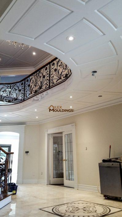 Custom millwork ceiling wainscoting