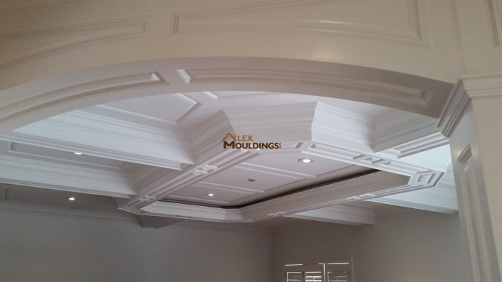 Coffered Ceiling and Arched opening