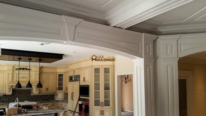 Cased door opening raised panel design