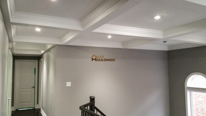 Beamed Ceiling with moldings trim