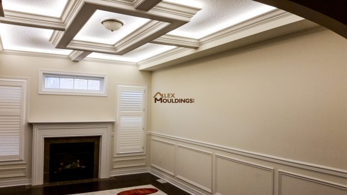 Ceiling Box Design with cove lighting