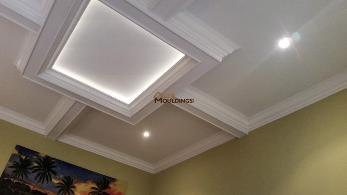 Dining room ceiling box with lighting