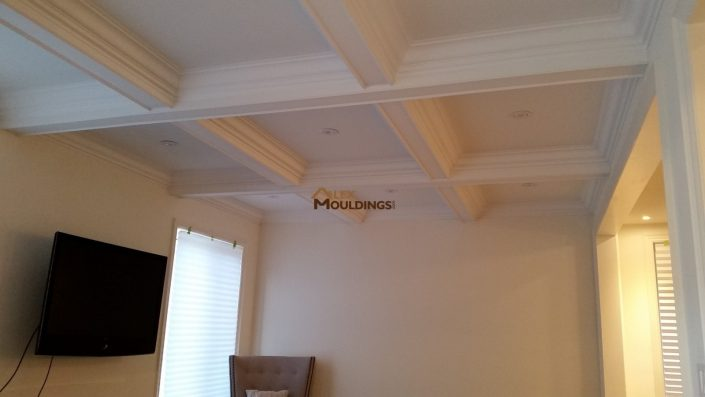 Waffle ceiling boxes