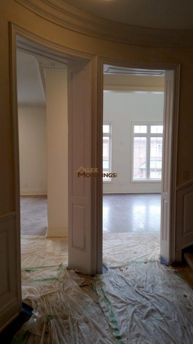 Raised panel entryway opening