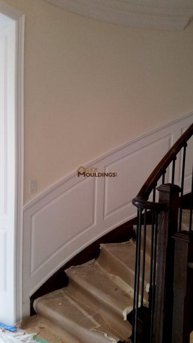 Raised panel on stairway