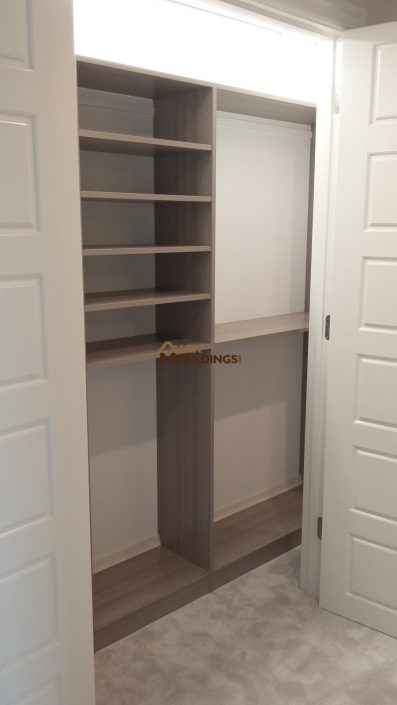 hidden closet with reach in shelving