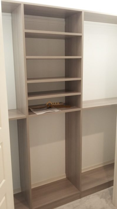 built in storage shelves