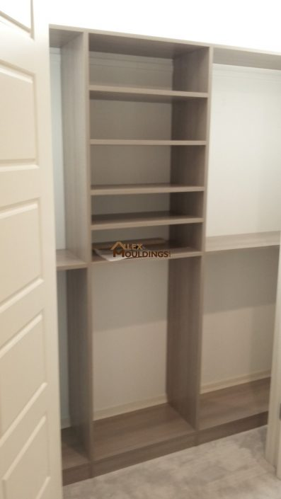 reach in shelving closet