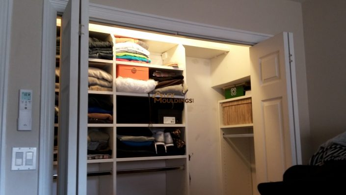 walk in closet organizer idea