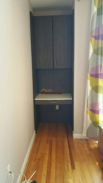 storage +desk solution
