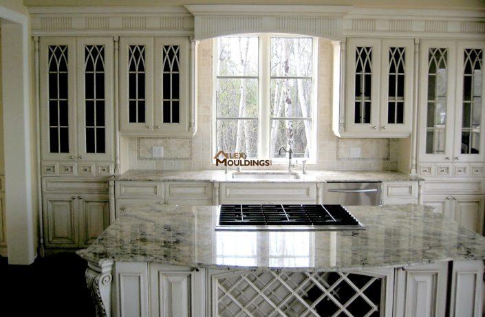 antique finish kitchen
