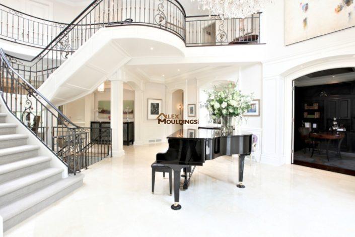 wall paneling piano room