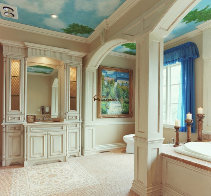 custom luxury bathroom millwork