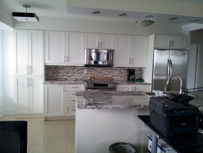 beautiful painted maple kitchen